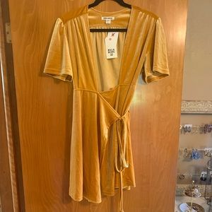Gold Velvet BillaBong Dress